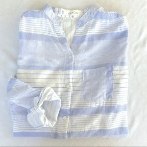 Anthropologie Eden and Olivia Striped Button Down